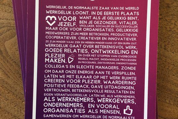 Werkgeluk manifest Ansichtkaarten