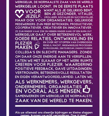 Werkgeluk Poster A0 Manifest