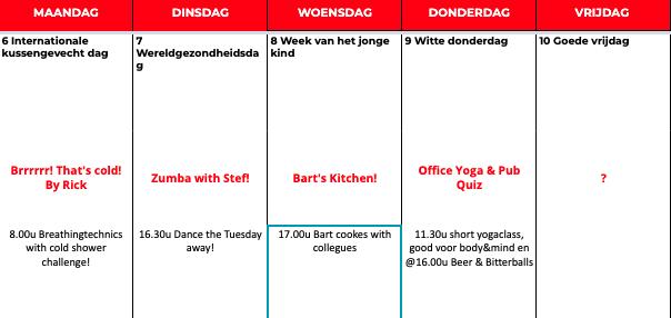 De Voor en Door Collega's Kalender van Netive VMS