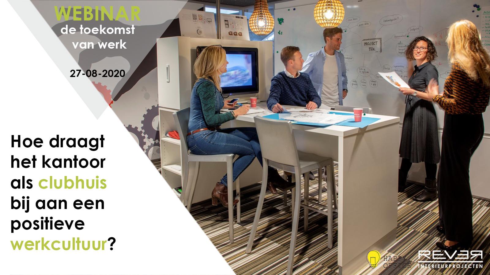 Gratis webinar over de toekomst van werk: Hoe draagt het kantoor als clubhuis bij aan een positieve werkcultuur?